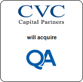 CVC Capital Partners,  will acquire QA Ltd.